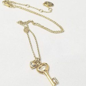 Juicy Couture Key Heart Charm Necklace